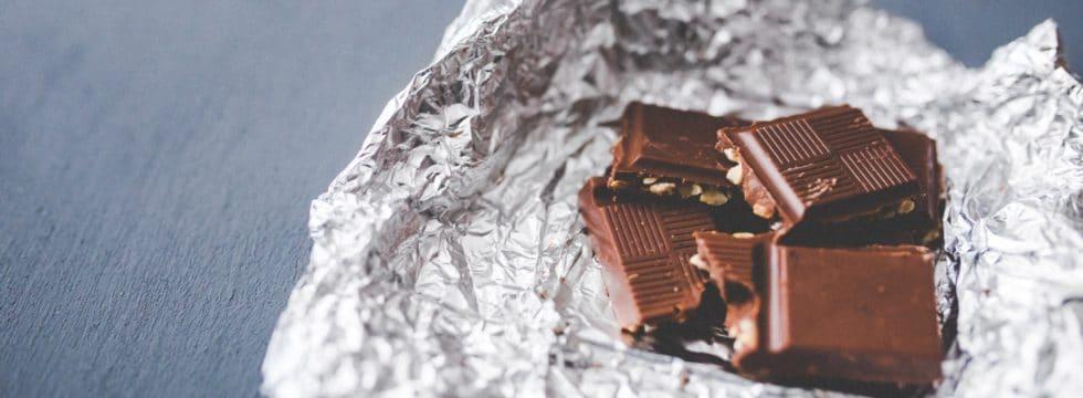 Entsorgung von Schokolade